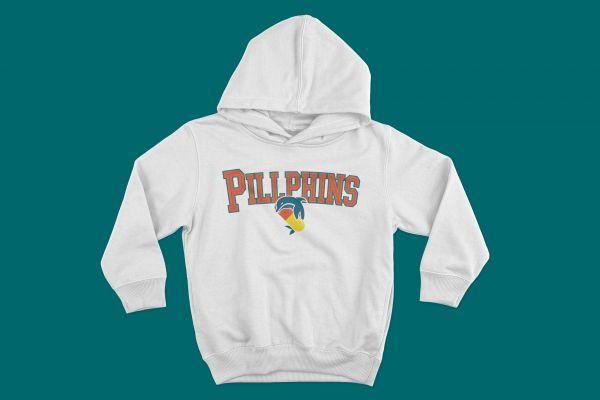 Hoodie Pillphins Schriftzug