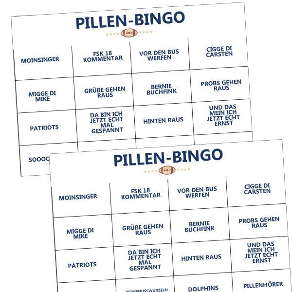Karten-Set 'Pillen-Bingo'