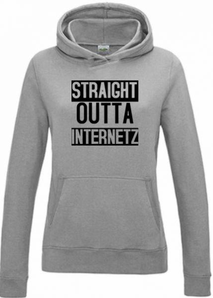 Ladies Hoodie Straight Outta Internetz