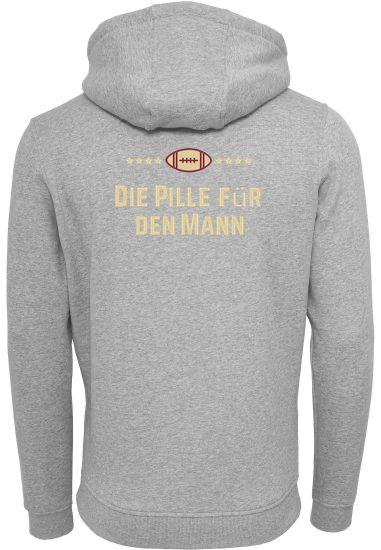 Hoodie Grau 'Die Pille für den Mann' Logo