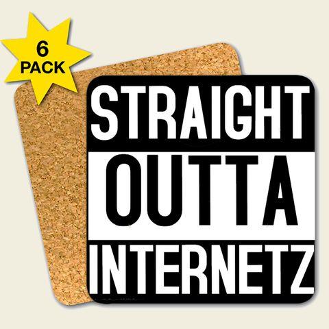 Kork Untersetzer Set 'Straight Outta Internetz'